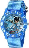 Disney Boy's 'Miles from Tommowland' Quartz Plastic and Nylon Automatic Watch, Color: (Model: W003060)