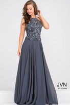 Jovani Halter Neck Chiffon Prom Dress JVN33700