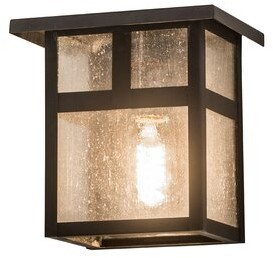 Young Blood Bloomsbury Market Youngblood Outdoor Flush Mount Bloomsbury Market Fixture Finish: Oil Rubbed Bronze, Shade Finish: Clear Seedy