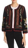 Velvet by Graham & Spencer Adara Embellished Velvet Jacket