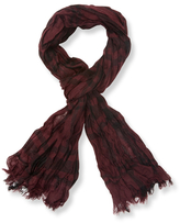 John Varvatos Exploded Plaid Merino Wool Scarf