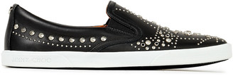 Jimmy Choo Demi Studded Leather Slip-on Sneakers