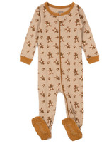 Leveret Boys' Footies - Tan Teddy Bear Footie - Infant, Toddler & Boys