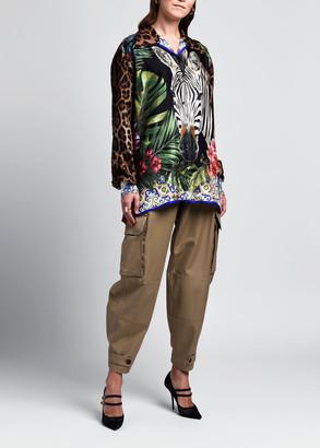 Dolce & Gabbana Long-Sleeve Button-Front Oversize Shirt