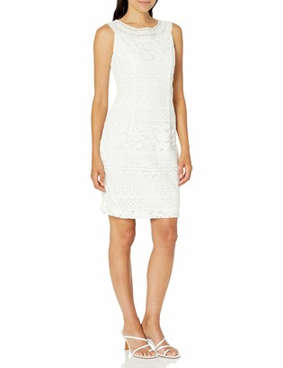 Sandra Darren Women's 1 PC Sleeveless Puff Lace Sheath Dress