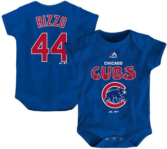 Majestic Newborn & Infant Anthony Rizzo Royal Chicago Cubs Stitched Player Name & Number Bodysuit