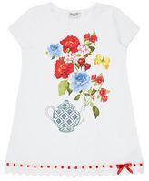 MonnaLisa Embellished Floral Print T-Shirt