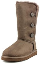 UGG Bailey Button Triplet Youth US 6 Brown Winter Boot UK 5