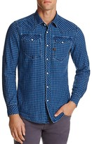 G Star Tacoma Flannel Check Regular Fit Snap Front Shirt