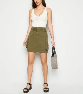 New Look Tall Utility Denim Skirt