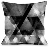 Dark & Stormy Black Decorative Pillow by OBC