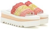 Stella McCartney Slide Crochet Platform Sandals