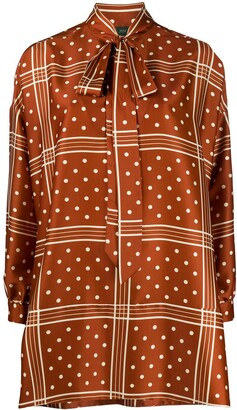 Jejia Relaxed Fit Polka Dot Print Blouse