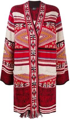 Etro Patterned-Knit Cardigan