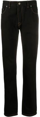 Fendi Slim Camouflage Pocket Logo Jeans