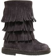 Pépé Fringed Suede Boots