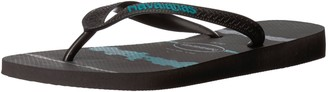 Havaianas Men's Top Tropical Glitch Flip Flop Sandal Black/Blue 8 M US