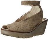Fly London Women's Yala Snake-Print Leather Wedge Sandal