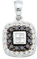 DazzlingRock Collection 0.51 Carat (ctw) 14k White Gold & White Diamond Ladies Vintage Style Pendant