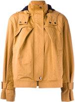 Jil Sander Navy short A-line jacket - women - Cotton/Polyester/Polyimide - 36