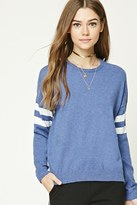 Forever 21 Striped Dropped-Sleeve Sweater
