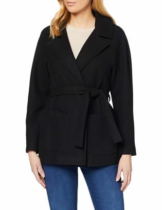 Dorothy Perkins Women's Black Short Wrap Lightweight Coat 12