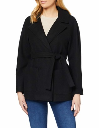 Dorothy Perkins Women's Black Short Wrap Lightweight Coat 8