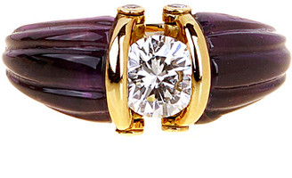 Christian Dior HERITAGE  18K 1.14 Ct. Tw. Diamond & Amethyst Ring