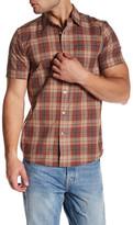 Volcom Kane Trim Fit Short Sleeve Plaid Woven Shirt