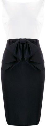 Le Petite Robe Di Chiara Boni Two-Tone Fitted Dress