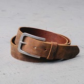 DSTLD Mens Standard Leather Belt in Black