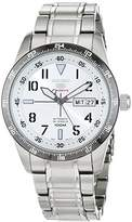 Seiko 5 Sports SRP517L1 - Men's Automatic Analogue Watch, Grey Dial, Grey Steel Strap