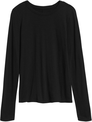 Banana Republic Slub Cotton-Modal Long-Sleeve T-Shirt