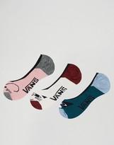 Vans 3 Pack Animal Face Socks