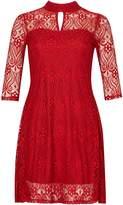 Izabel London Keyhole Neck Lace Dress