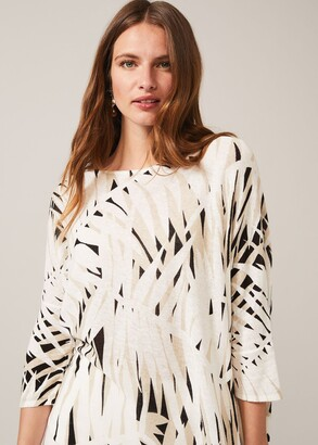 Phase Eight Sabrah Shadow Palm Print Knit