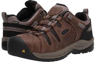 Keen Flint II Waterproof (Steel Toe) (Cascade Brown/Orion Blue) Men's Work Boots