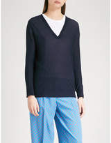 Joseph V-neck knitted jumper