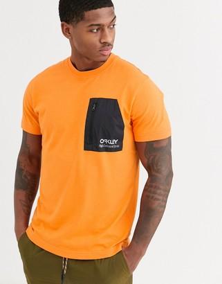 Oakley t-shirt in neon orange