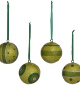 Mini Capiz Ball Ornament Set