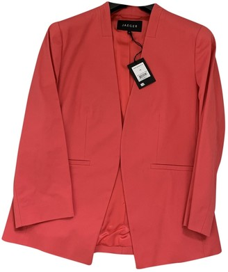 Jaeger Red Cotton Jacket for Women