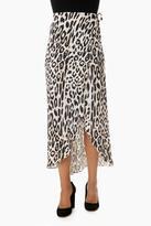 NBD Leopard Alexa Wrap Skirt