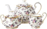 Royal Albert 100 Years 1940 Teapot Sugar & Creamer Set - English Chintz