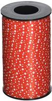 Berwick 3800813 Reverse Dots Curling Ribbon, 3/8-Inch Wide by 250-Yard Spool, Red