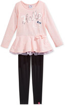 Hello Kitty Little Girls' 2-Pc. Sequin Peplum Top and Leggings Set