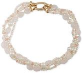 Lauren Ralph Lauren Gold-Tone Imitation Pearl and Stone Torsade Collar Necklace