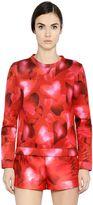 Valentino Hearts Printed Techno Jersey Sweatshirt