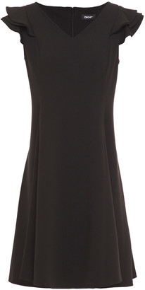 DKNY Ruffled Crepe Mini Dress
