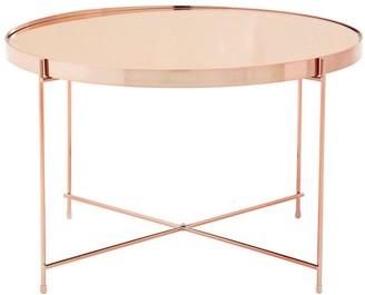 Premier Housewares Allure Large Side Table- Rose Gold
