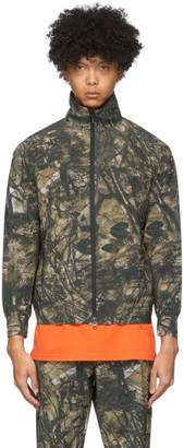 South2 West8 Khaki Camo Trainer Jacket